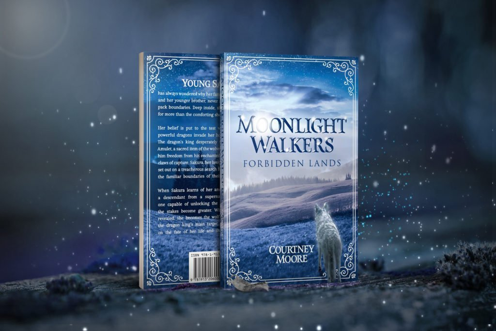 Courtney Moore Moonlight Walkers Forbidden Lands Cover Reveal Notebook Publishing