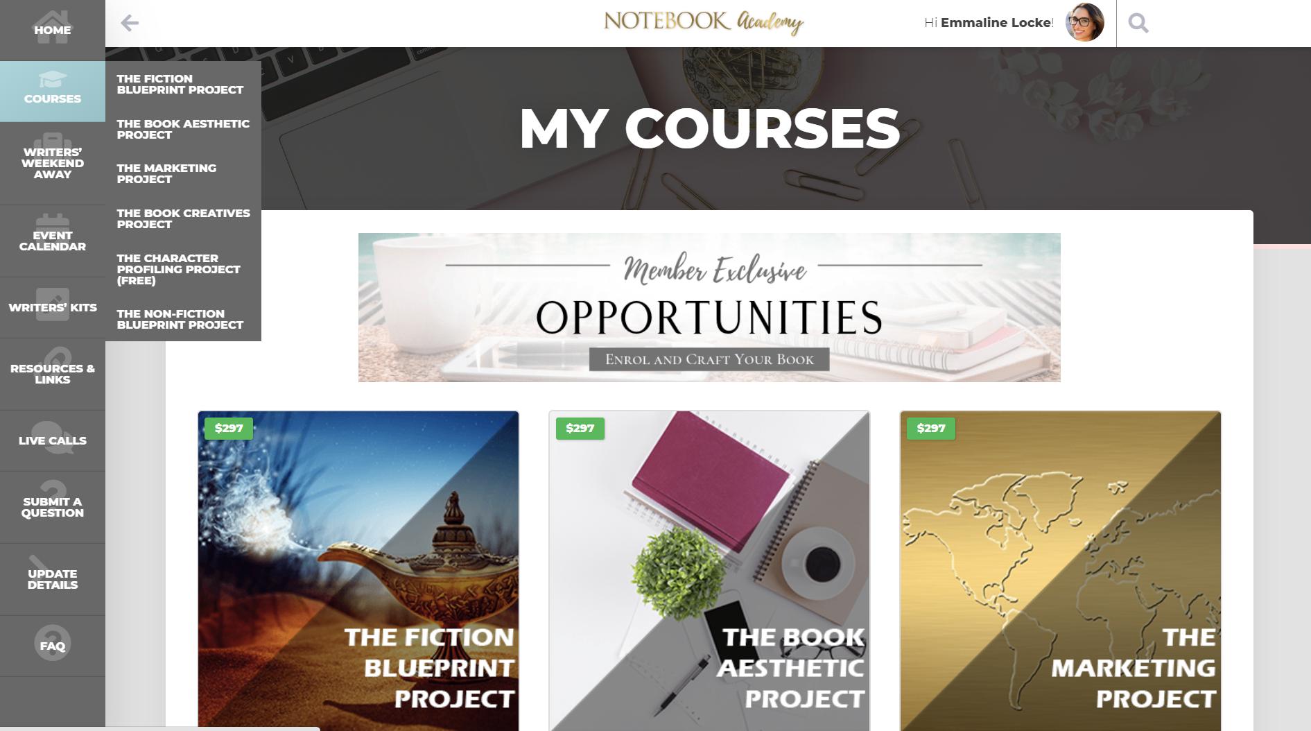 Notebook Academy Portal